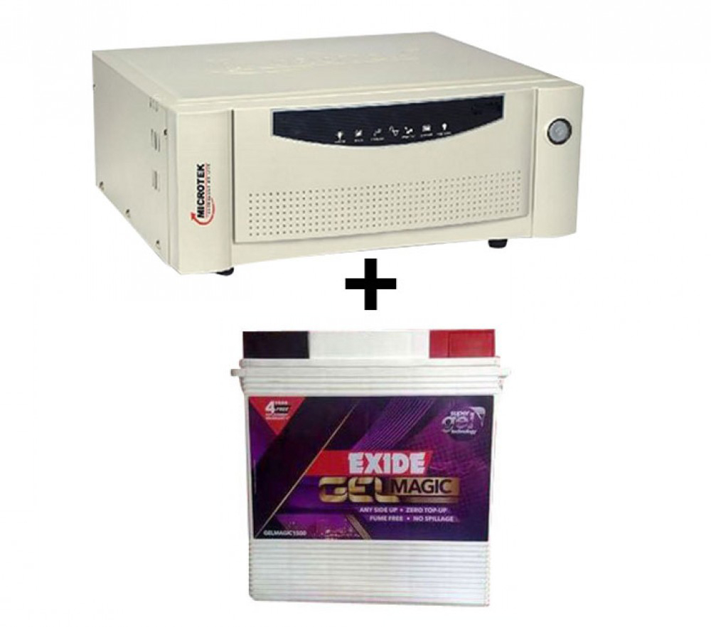 Microtek UPS SEB 1100VA+ Exide Gel Magic-1500 (150AH)