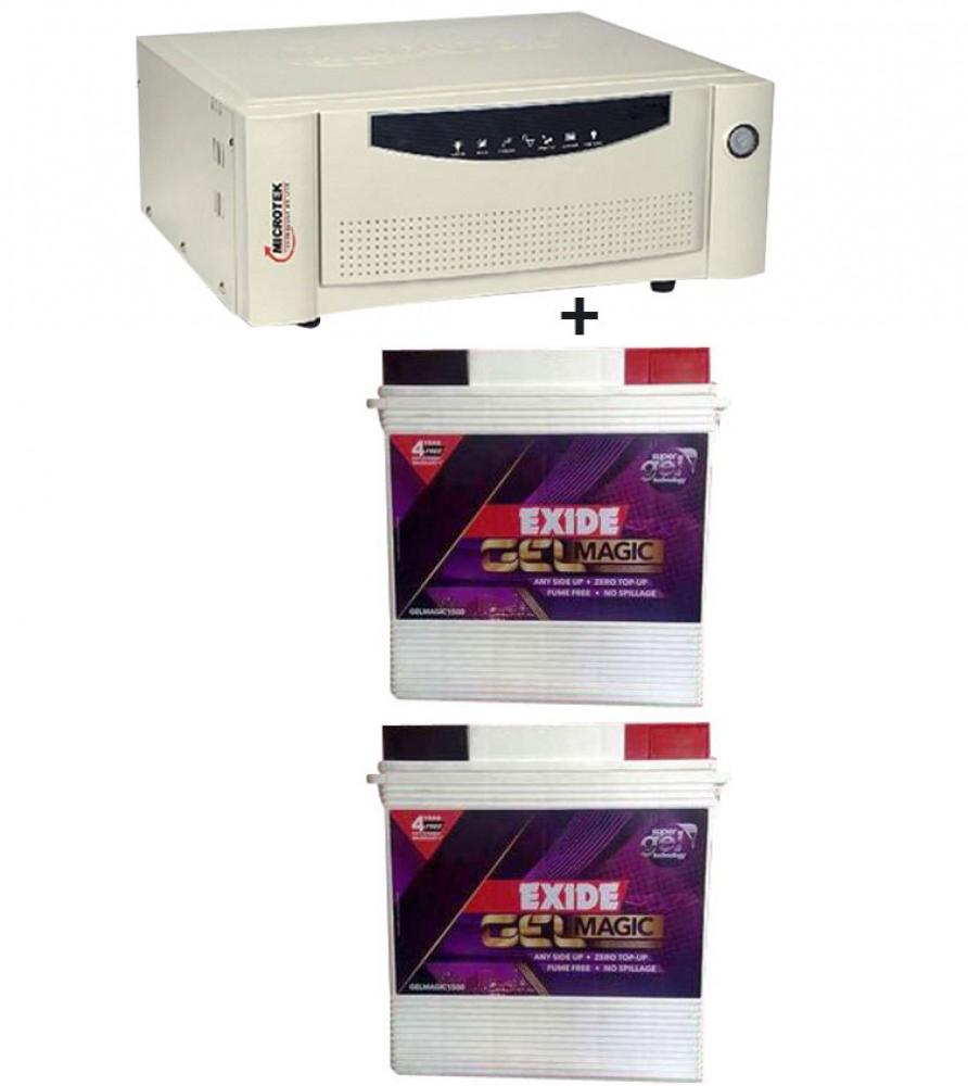 Microtek UPS EB 1600 VA+  Exide Gel Magic-1500 (150AH)