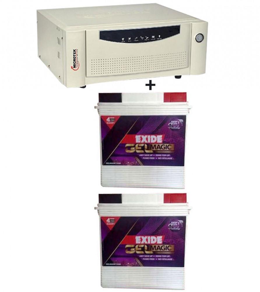 Microtek UPS SEBz Sine Wave 2000 VA+Exide Gel Magic-1500 (150AH)