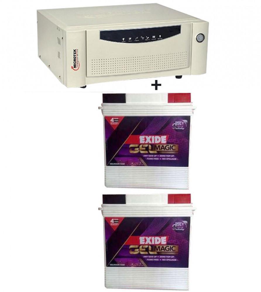 Microtek UPS SEBz Sine Wave 1600 VA+Exide Gel Magic-1500 (150AH)