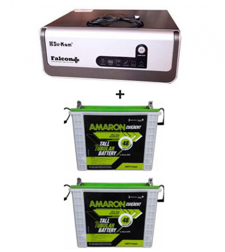 Su-kam Falcon +1600Va/ Home UPS + Amaron AAM-CR-CRTT150 (150Ah)