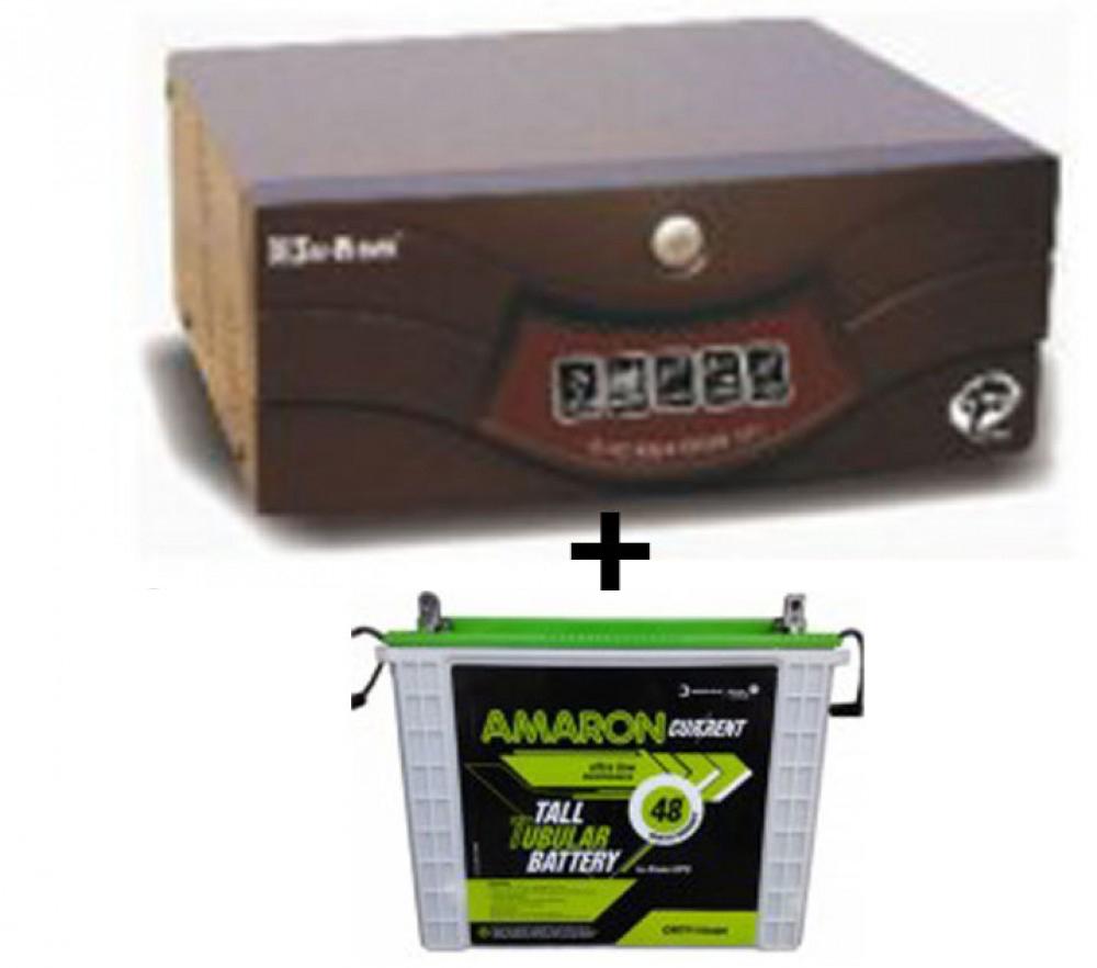 Su-Kam Shiny Sine Wave 900VA Home UPS+Amaron AAM-CR-CRTT150 (150Ah)