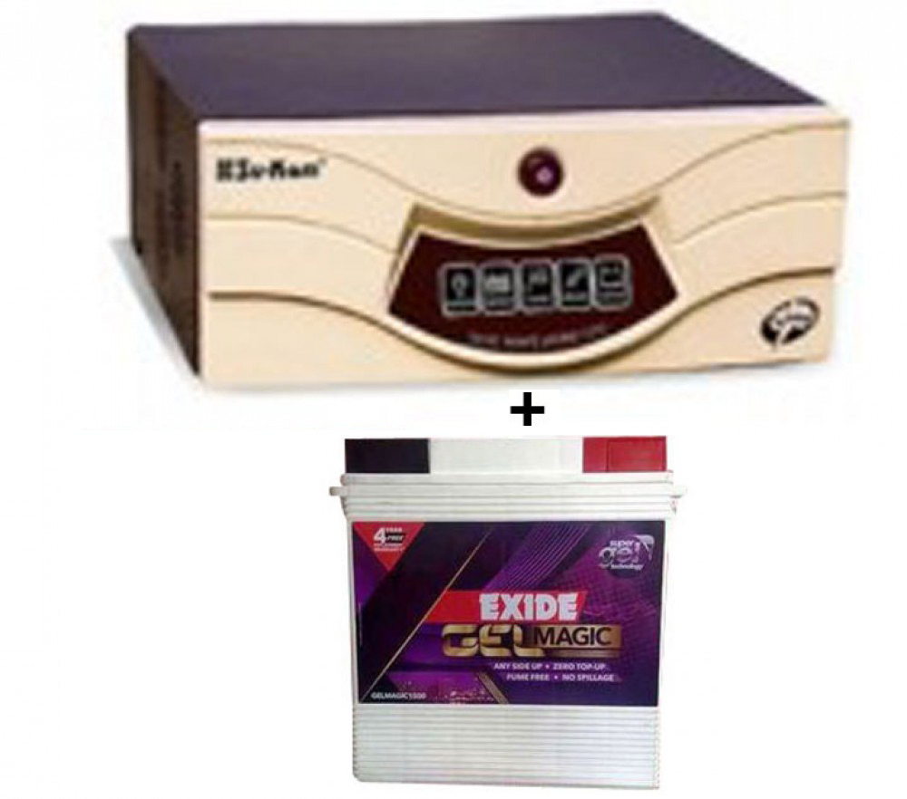 Sukam Shark 700VA HomeUPS+Exide Gel Magic-1500 150AH