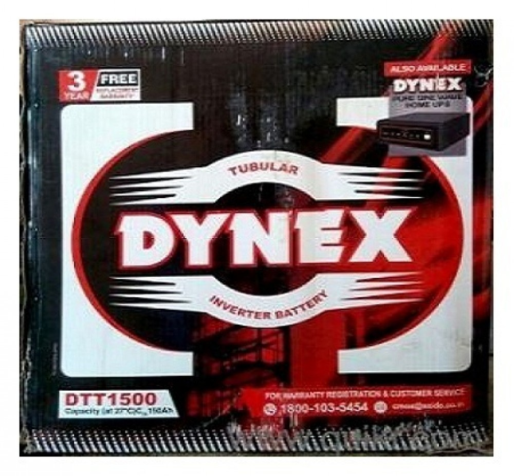 Exide Dynex 150AH Tall Tubular Battery - Full 36 Months Replacement Warranty