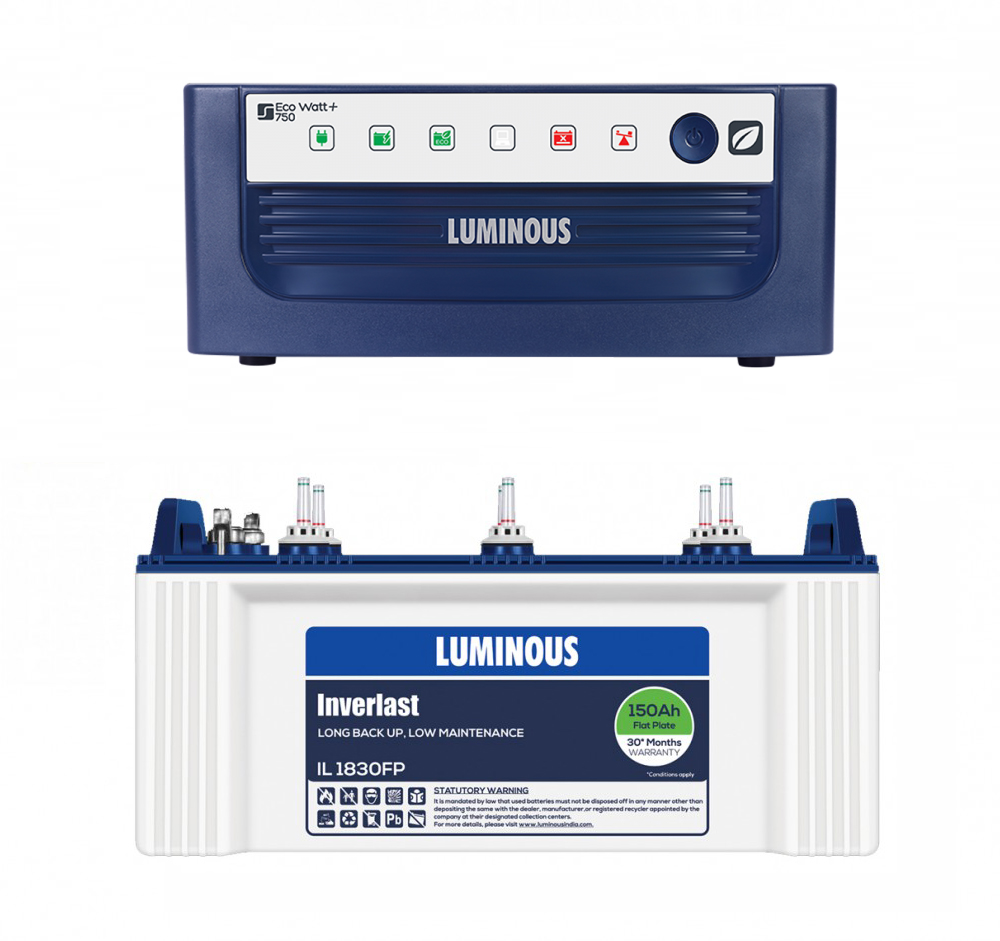 LUMINOUS ECO VOLT850 + LUMINOUS1830 (150AH)