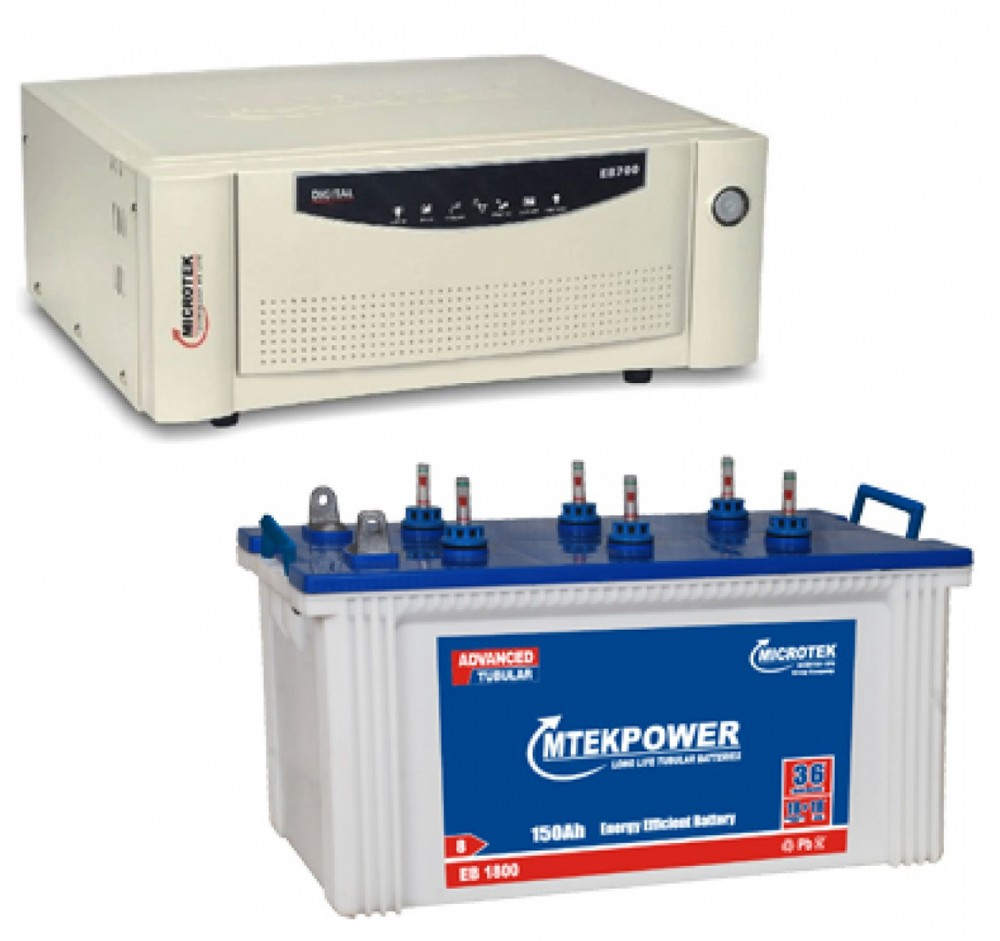Microtek Home Ups EB 900 VA + EB 1900 (160Ah) Battery