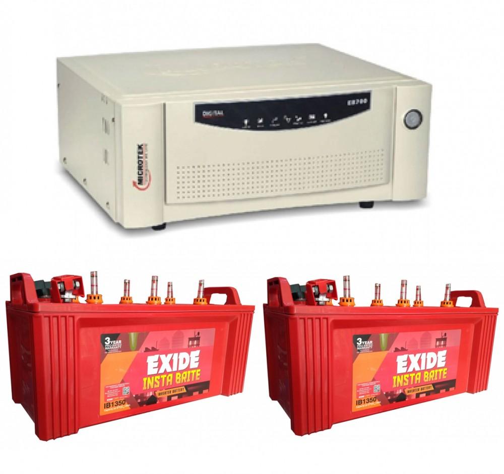 MICROTEK 1600 + EXIDE INSTABRIGHT 1500 (150AH)