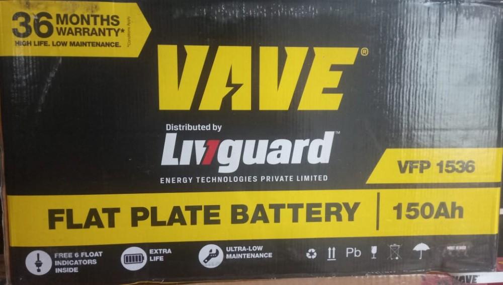 LIVGUARD VAVE VFP 1536 150AH FLAT PLATE BATTERY