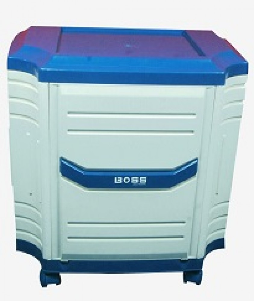 Boss Inverter Trolley for Double Tubular Battery (White + Blue)