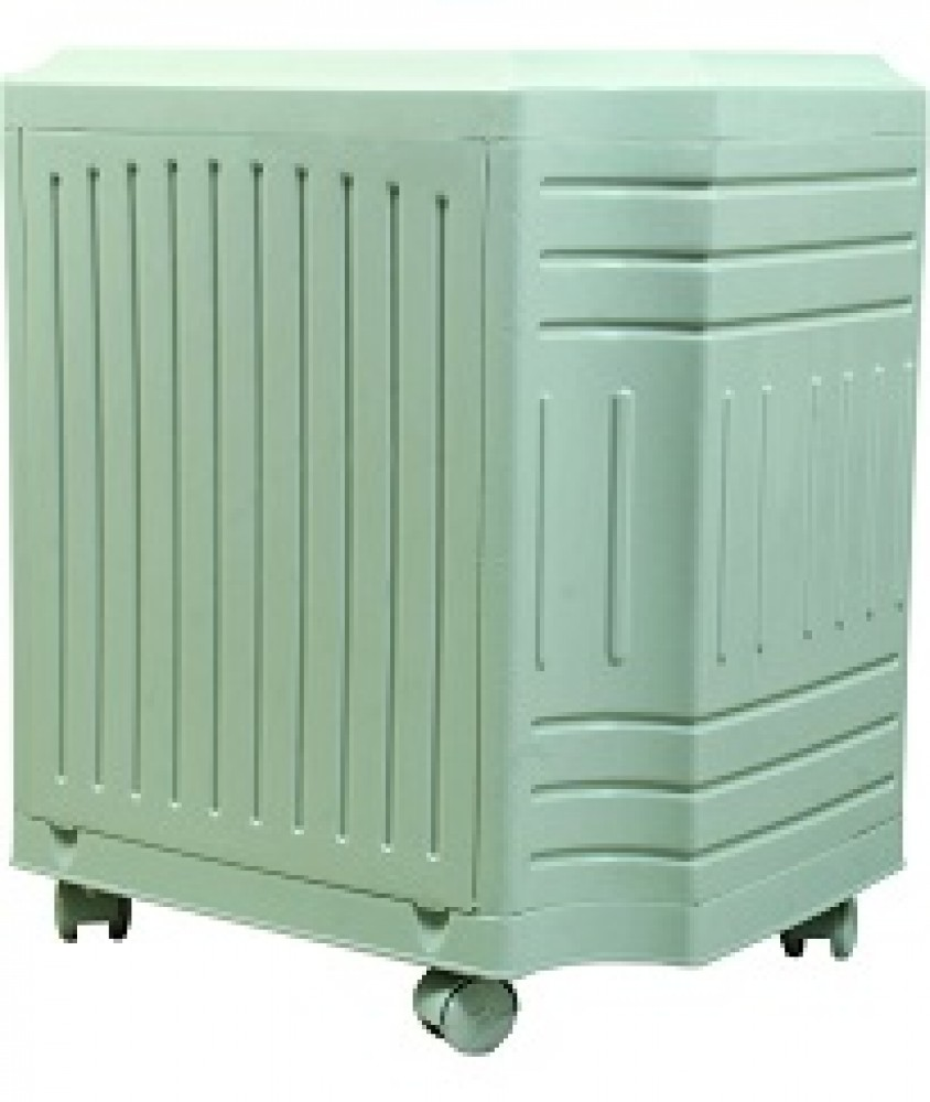Inverter Trolley for Single Tubular Battery (White) Curved