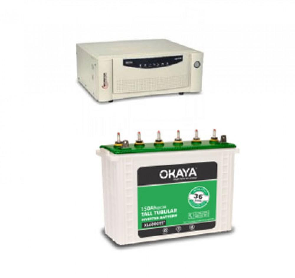 Microtek UPS EB 900 VA + Okaya XL6000T (150Ah)