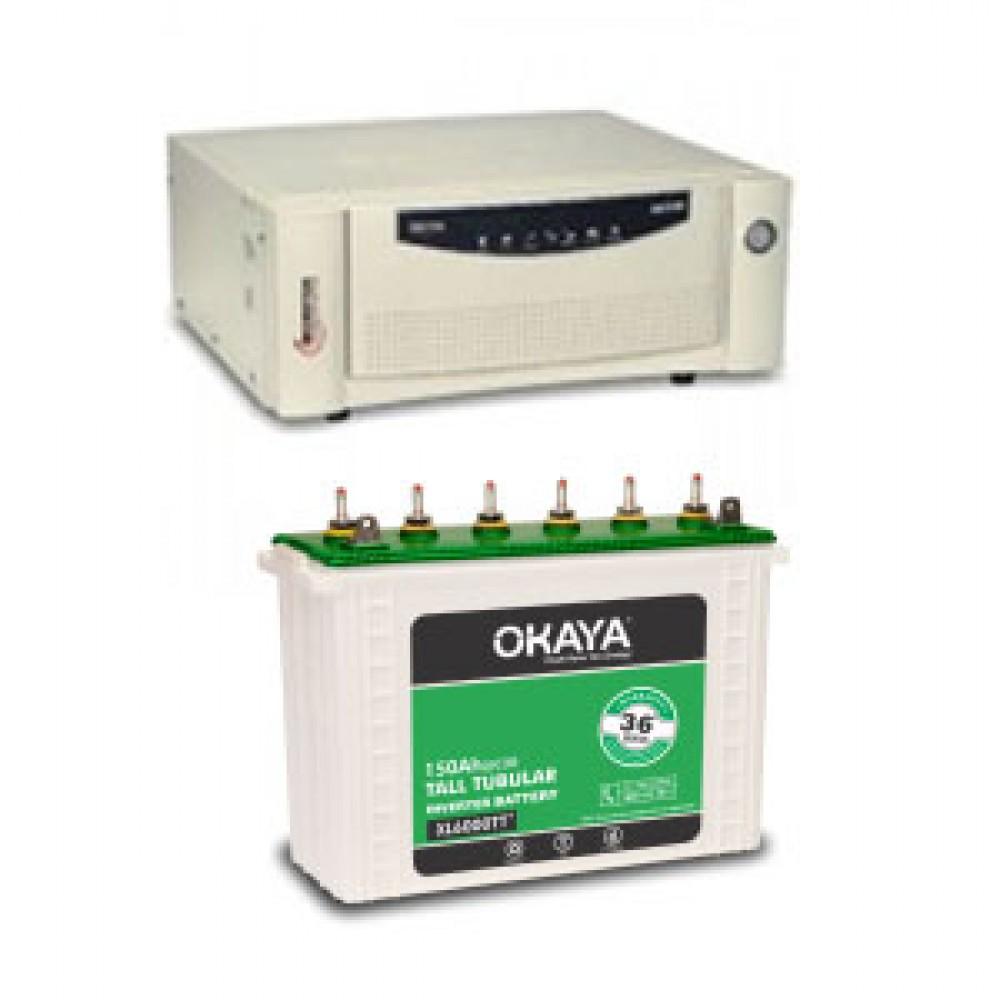 Microtek UPS EB 700 VA + Okaya XL6000T (150Ah)