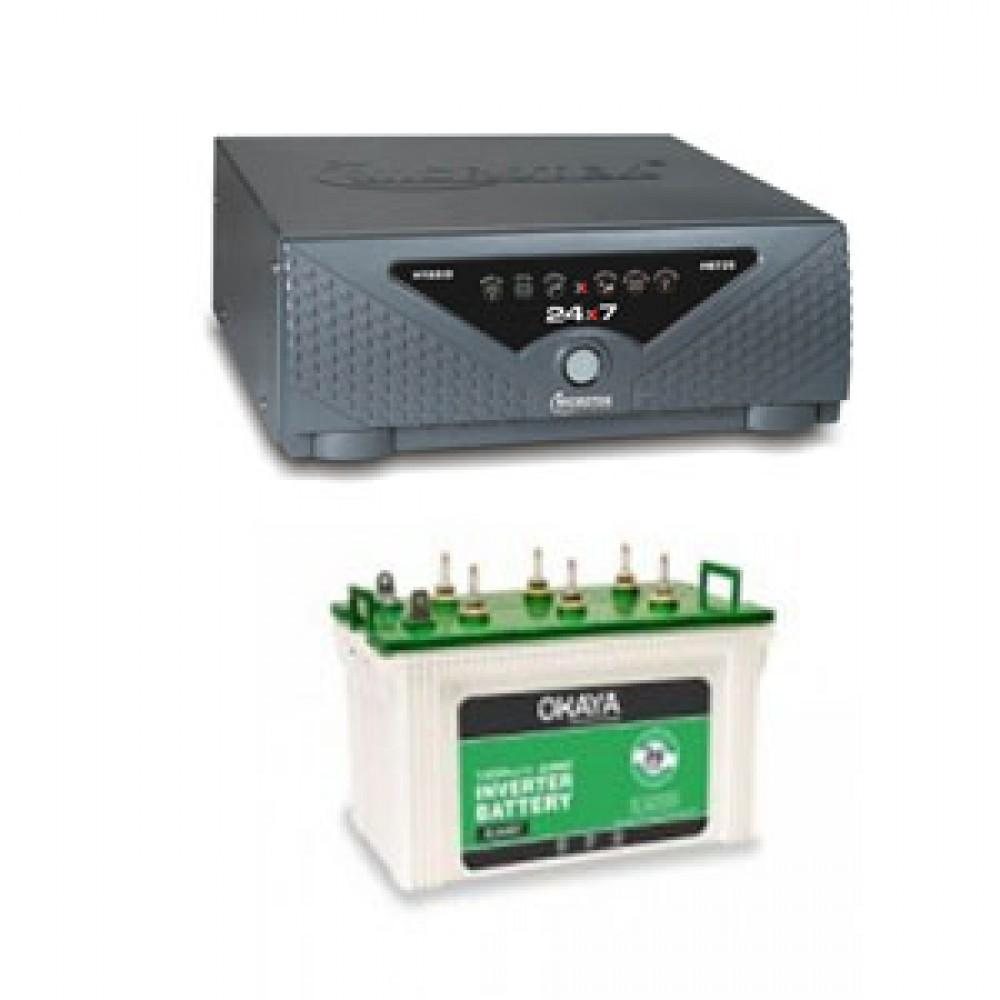 Microtek UPS Sine Wave 24X7 Hybrid 725va +  Battery XL 6600T (160 AH)