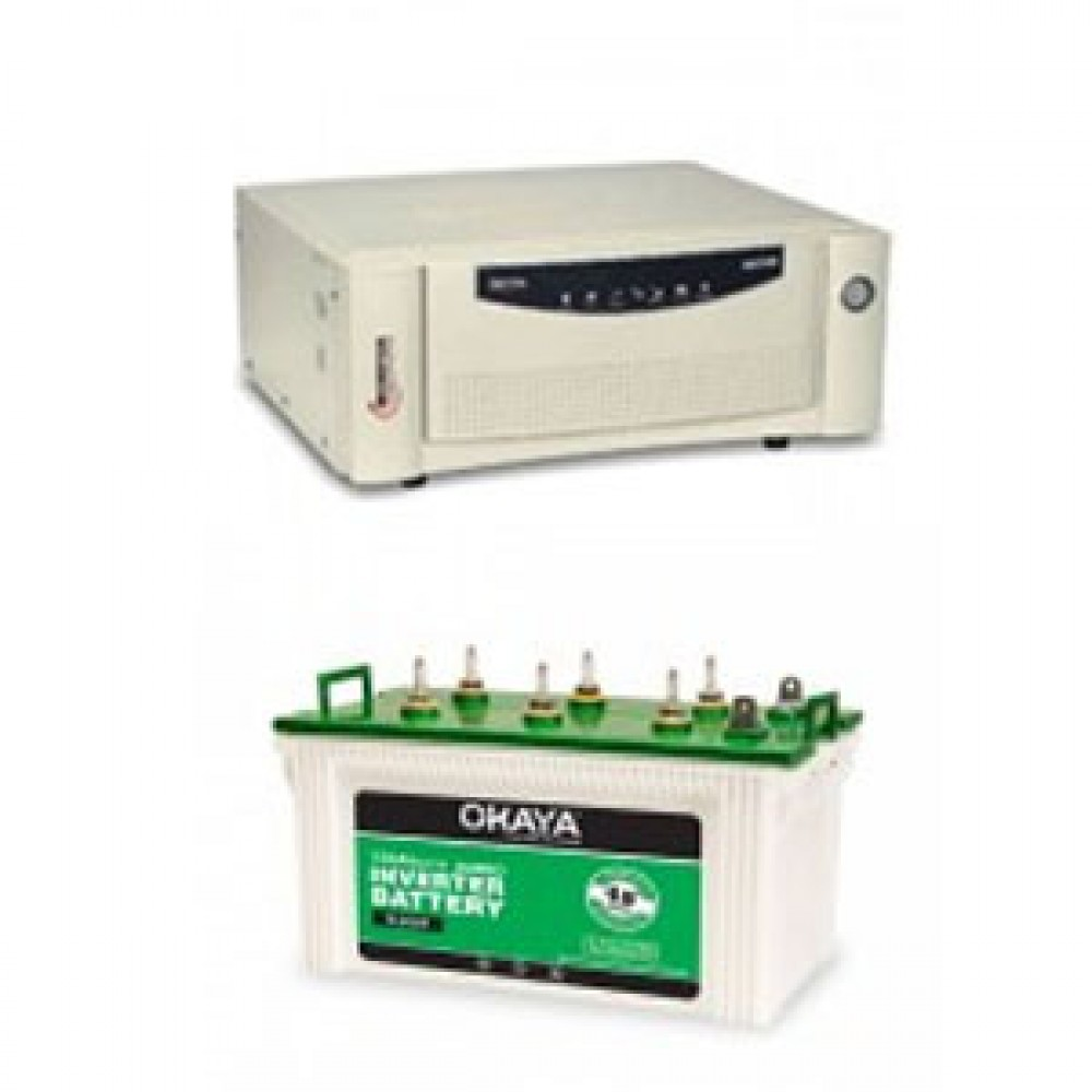 Microtek UPS EB 900 VA + Okaya SL 600T (150Ah)