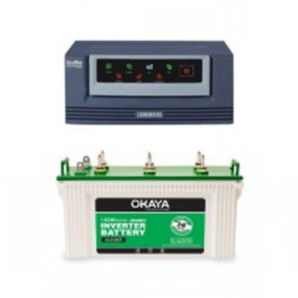 Luminous Eco Watt 850 or 865 Home UPS + Okaya XL5500T (140Ah)