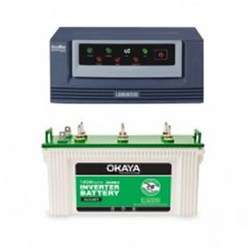 Luminous Eco Watt 650or665or Home UPS + Okaya XL5500T (140Ah)