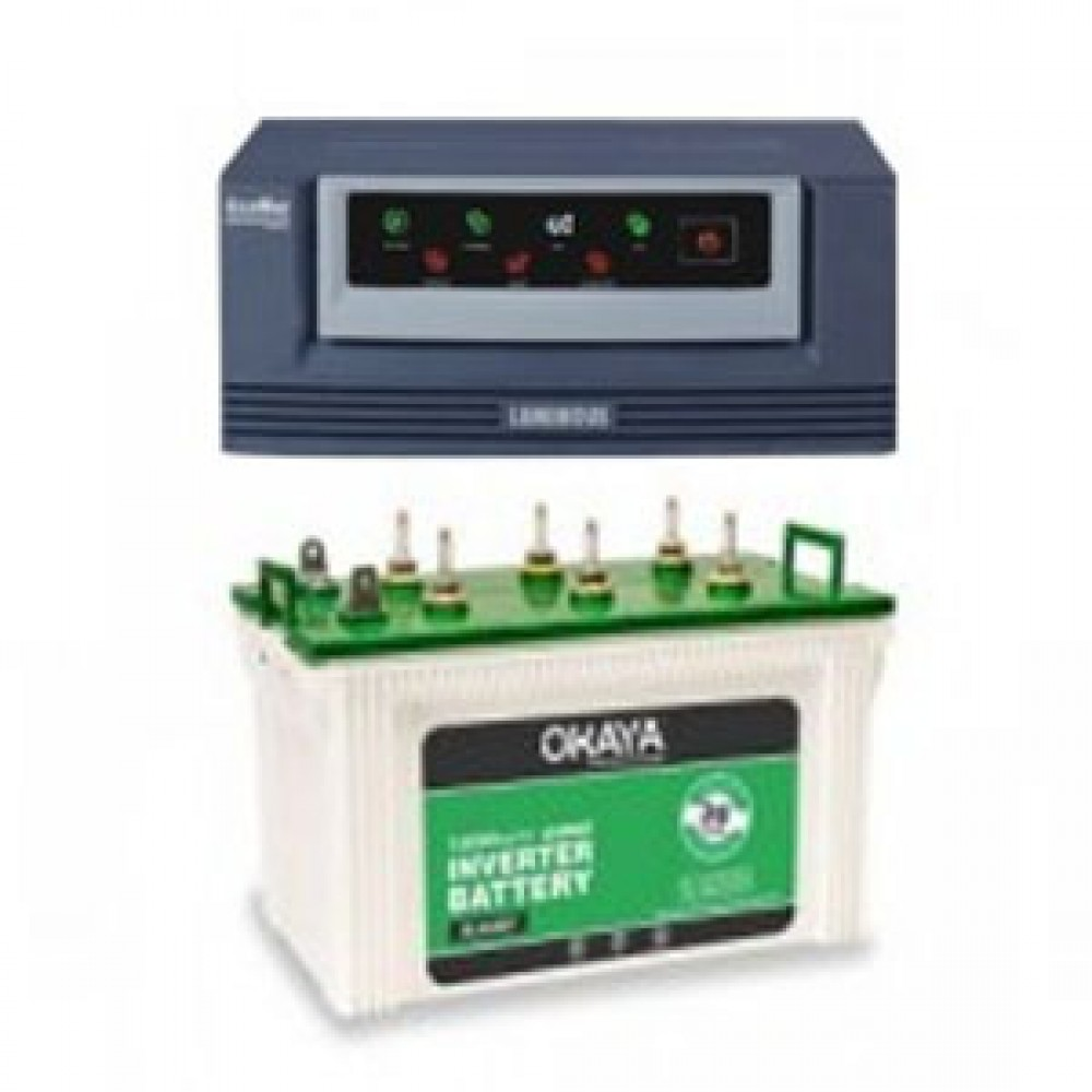 Luminous Eco Watt 650or665or Home UPS +  Battery XL 6600T (160 AH)