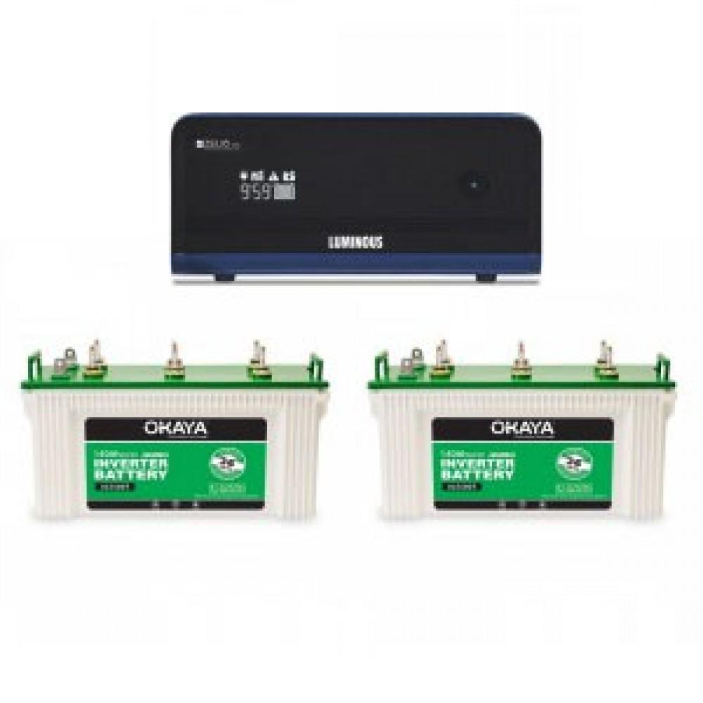 Luminous Zelio 1700 Sine Wave Home UPS + Okaya XL5500T (140Ah) x 2