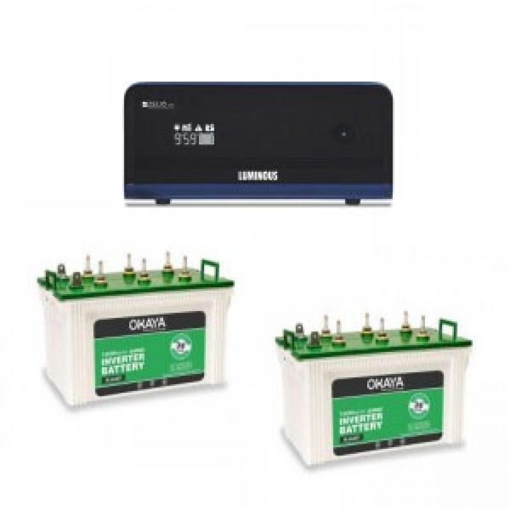 Luminous Zelio 1700 Sine Wave Home UPS + Battery XL 6600T (160 AH) x 2
