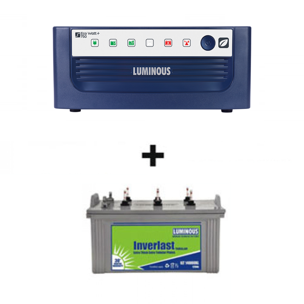Luminous 1065VA Home Ups + Luminous ILT 18030 (150Ah)