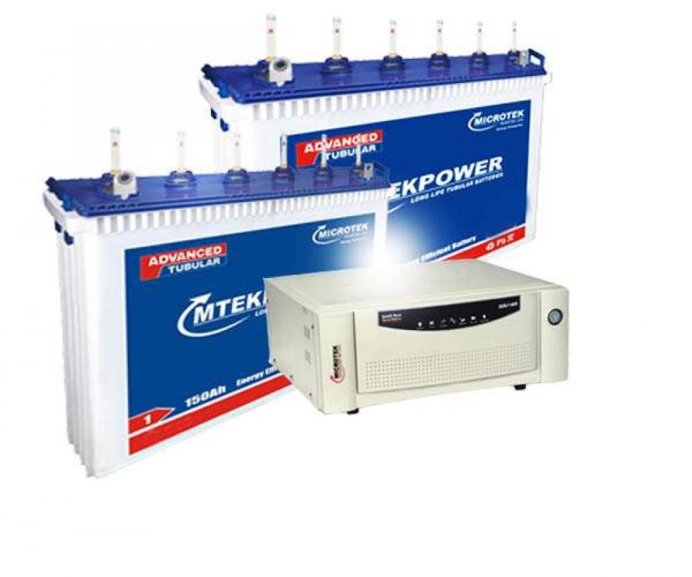 Microtek Home Ups SEBz Sine Wave  1600 VA + EB 1800 (150Ah) X2 Battery