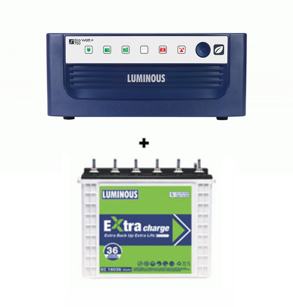 Luminous 850VA Home Ups +Luminous EC 18036 I 150Ah