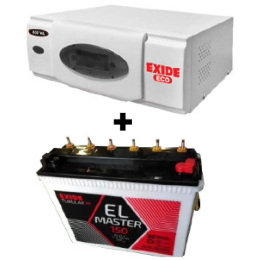 Exide Eco 900VA Home Ups + Exide EL Master (150Ah) Battery