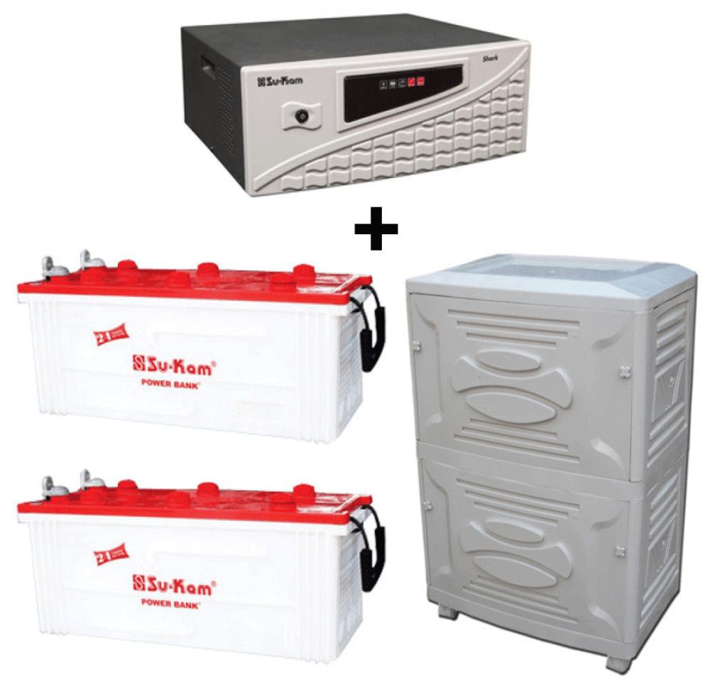 Su-kam Shark 1500VA Home Ups + SIG 150Ah Battery