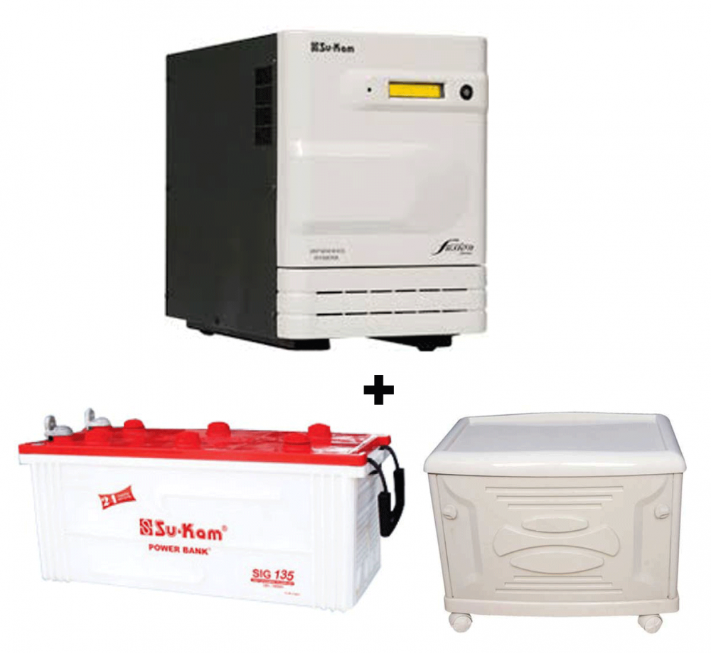 Su-Kam 3.5KVA Sine Wave Home Ups + SIG 150Ah Battery