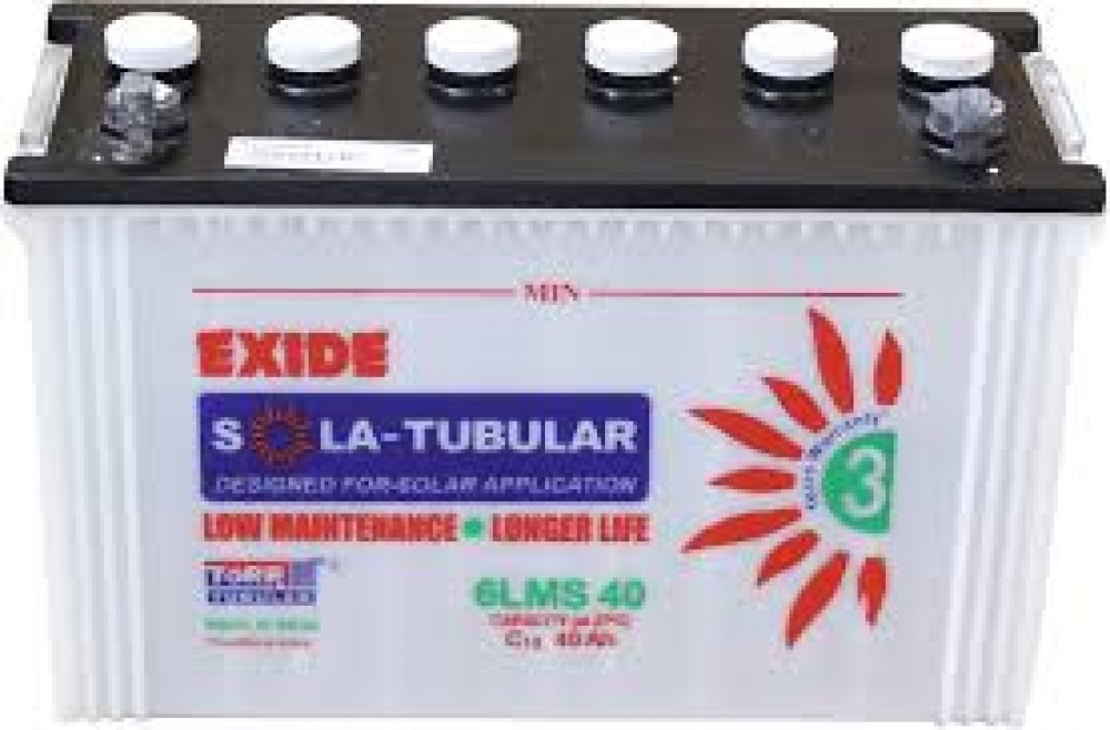 Buy Exide Solar Battery 40ah L Online Exide Solar Battery