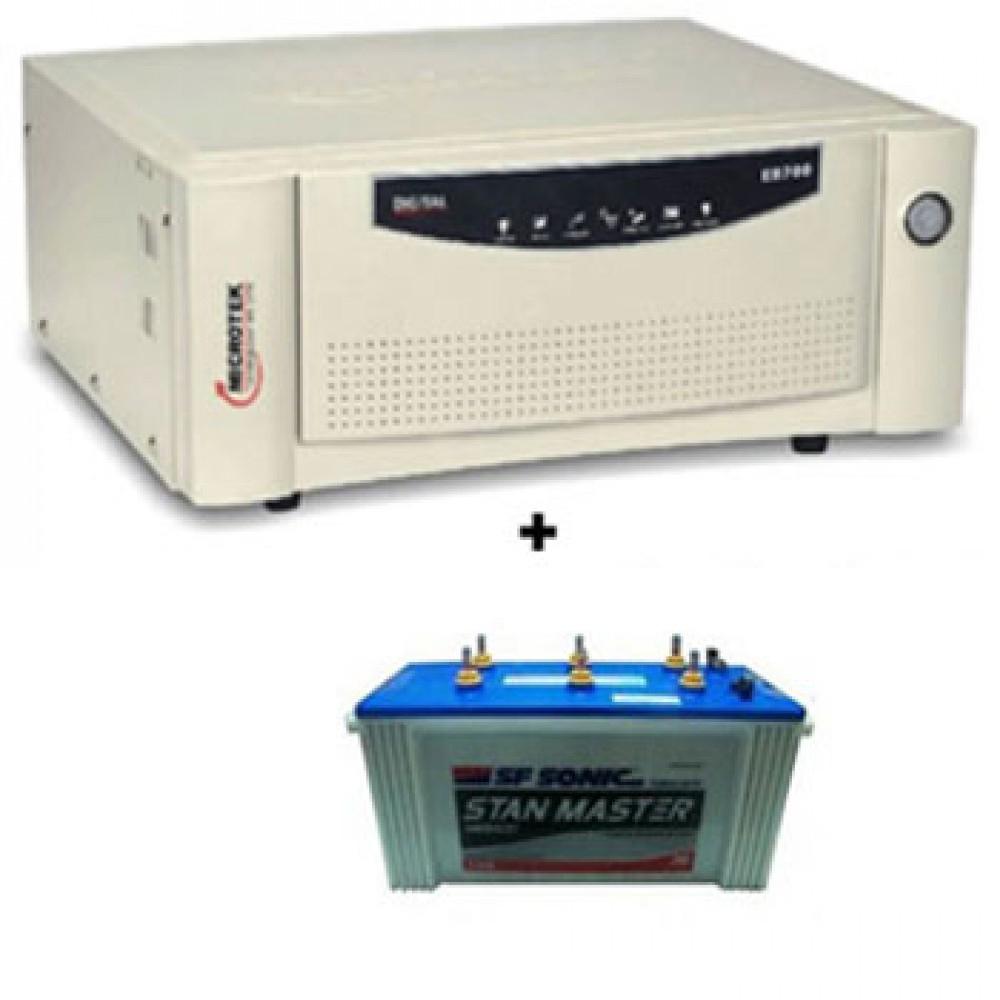 Microtek Home Ups EB 700 Sine Wave + Sfsonic Stan Master SM 8500 (150Ah)
