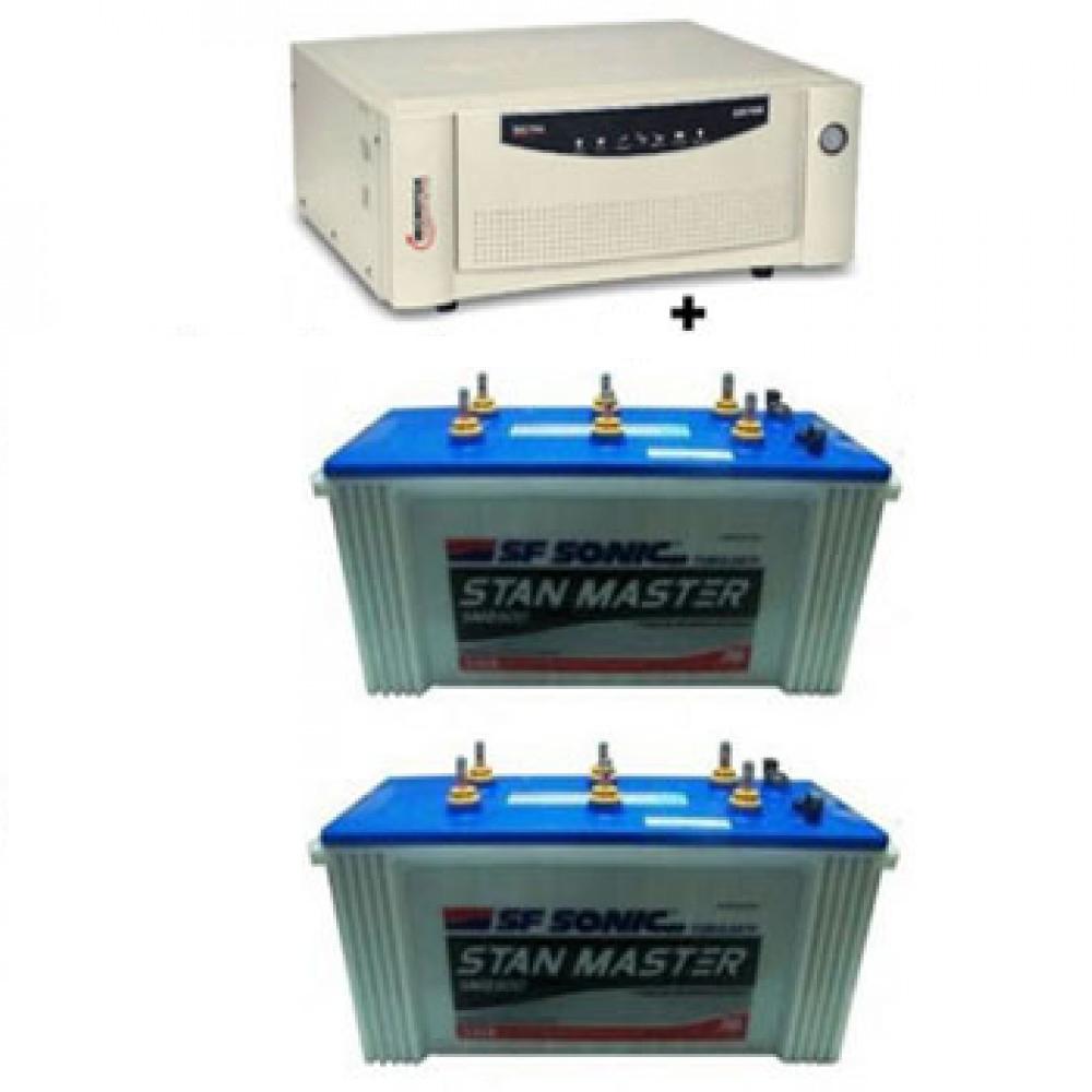 Microtek UPS EB1600 Sine Wave+Sfsonic (Exide) Stan Master SM8500(150Ah)