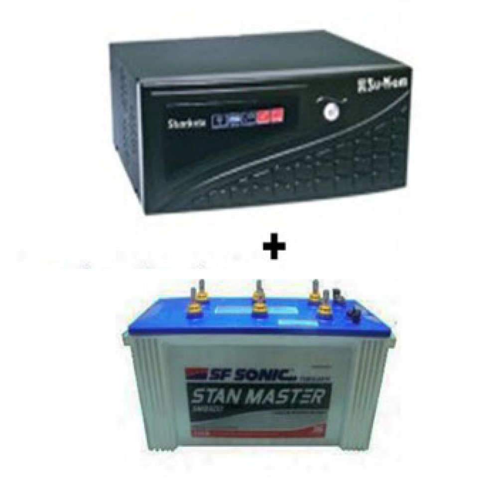 SuKam Shark 900VA Home Ups + Sfsonic (Exide) Stan Master SM8500 (150Ah)