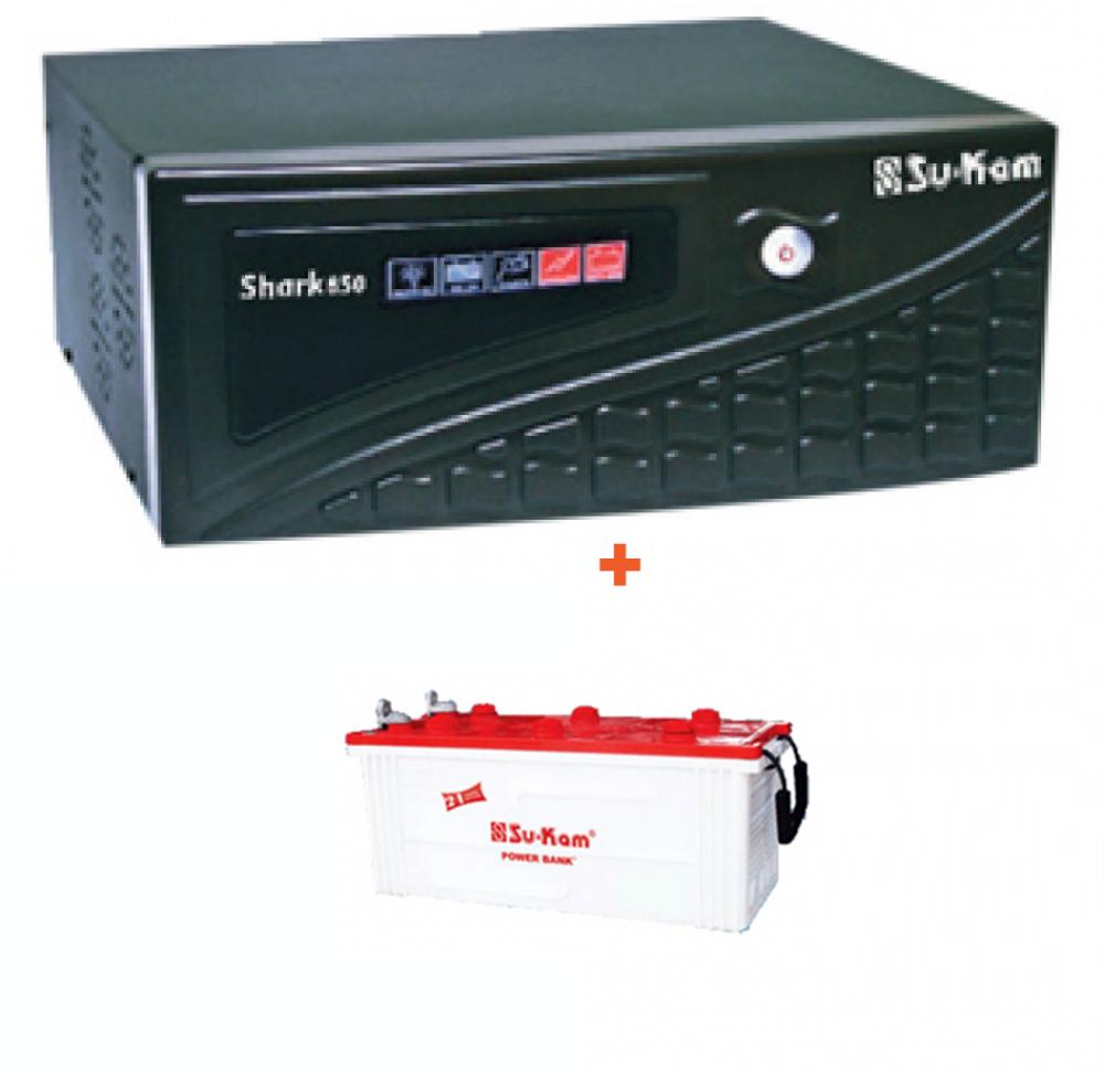 Su-Kam Shark 900VA Home Ups + SIG 150Ah Battery