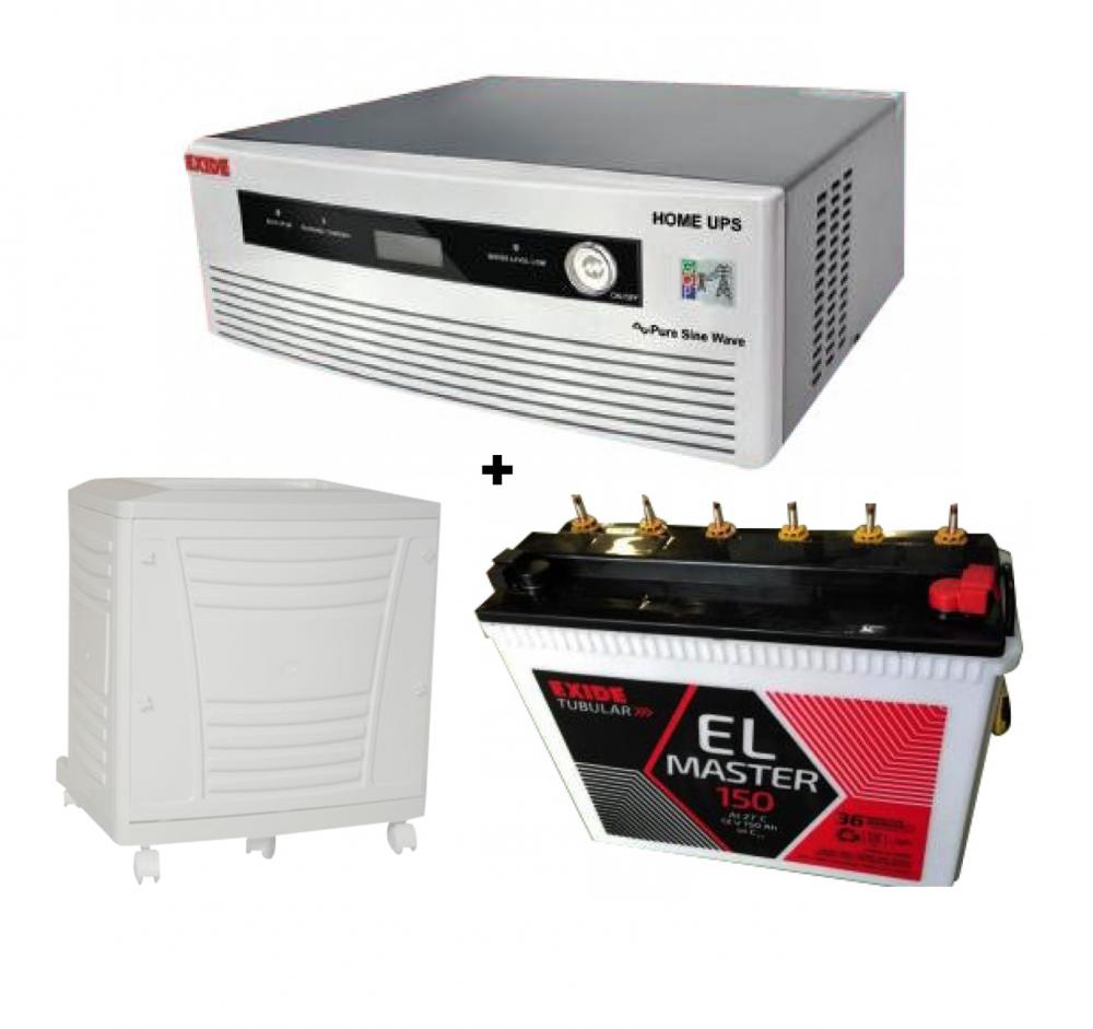 Exide Home UPS Sine Wave 700VA + EL Master (150Ah) Battery