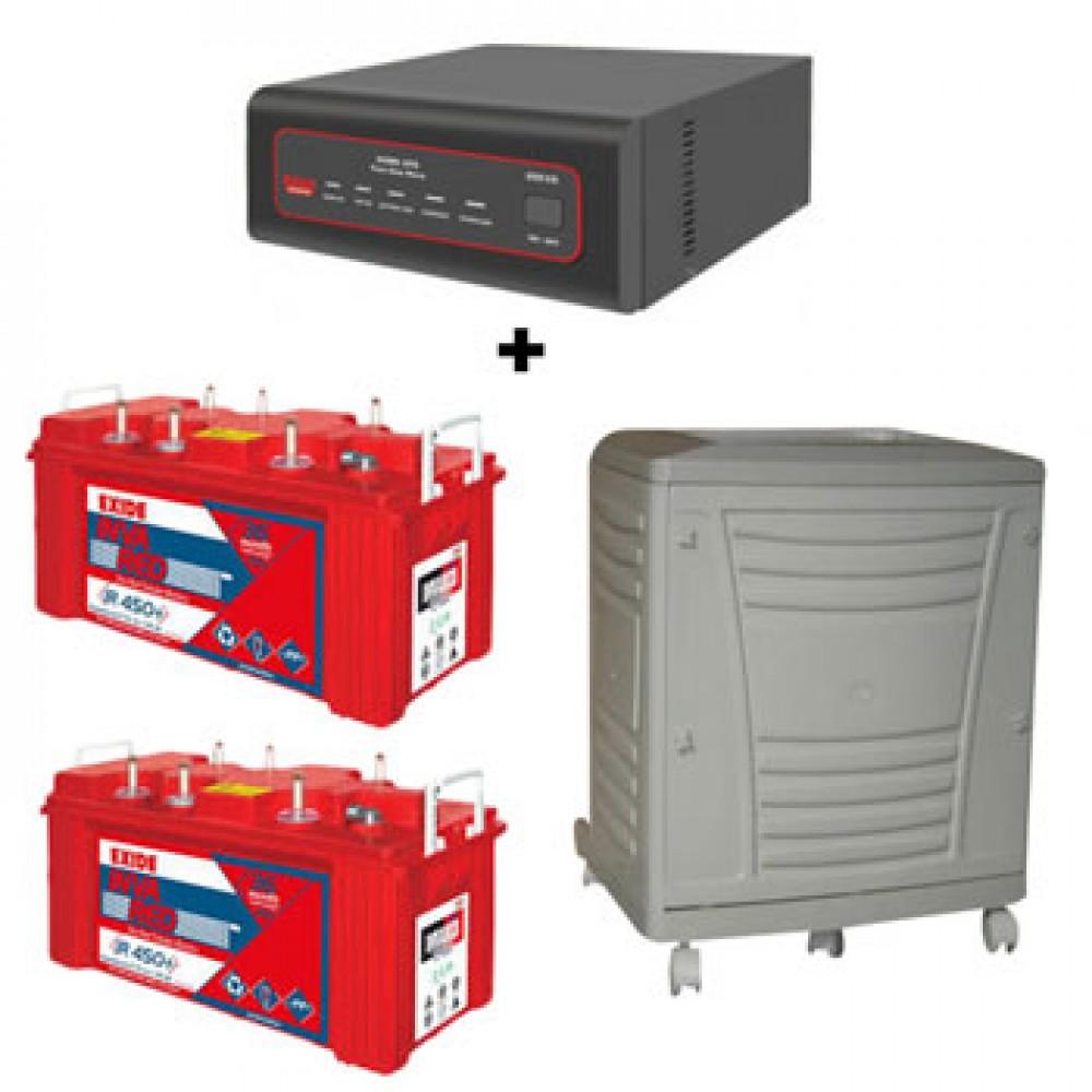 EXIDE XTATIC SINE WAVE 1500VA + Exide Inva Red 450 Plus (135Ah) Battery