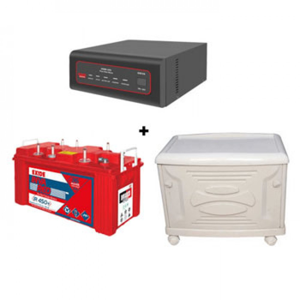 Exide XTATIC Sine Wave 850VA + Inva Red 500 (150Ah) Battery