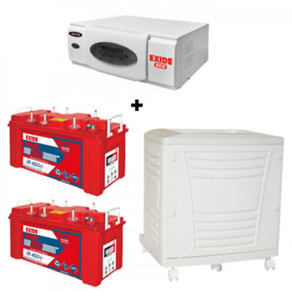 Exide ECO 1500VA+ Inva Red 500(150Ah) Battery