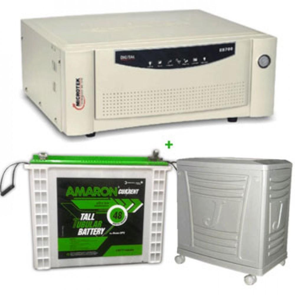 Microtek UPS Sine Wave EB 900 VA+AMARON CRTT (180Ah)