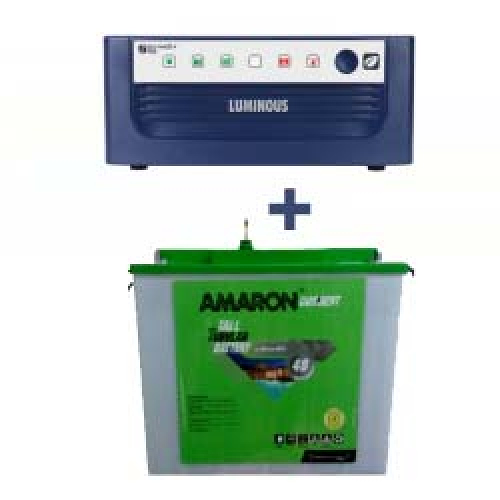 Luminous Eco Watt 850 or 865 or 950or1050 home UPS + AMARON CRTT (180Ah)