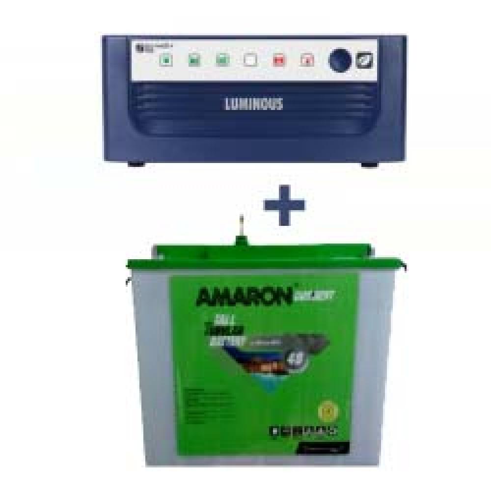 Luminous Eco Watt Sine Wave 850 or 865 or 950 Home UPS + AMARON CRTT (180Ah)