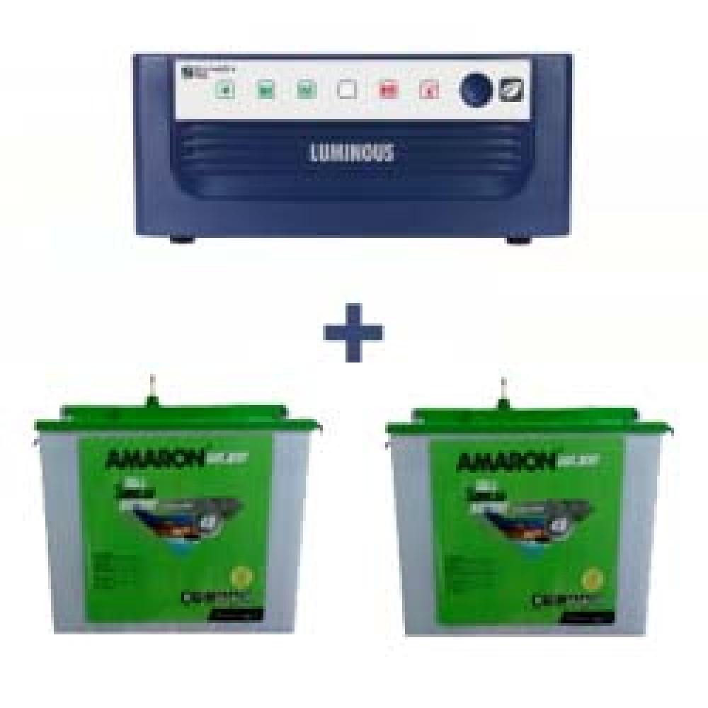 Luminous Eco Watt Sine Wave 1500 Home UPS + AMARON CRTT (180Ah)