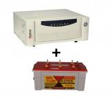 Microtek UPS EB 700 VA+ Exide TubeMaster Tubular TM500L (150Ah)