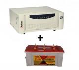 Microtek UPS EB 900 VA+ Exide TubeMaster Tubular TM500L (150Ah)