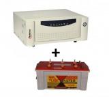 Microtek UPS SEBz Sine Wave 900 VA+ Exide TubeMaster Tubular TM500L (150Ah)