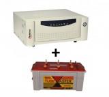 Microtek UPS SEB 1100VA+ Exide TubeMaster Tubular TM500L (150Ah)