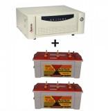 Microtek UPS EB 2000 VA+  Exide TubeMaster Tubular TM500L (150Ah)