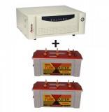 Microtek UPS SEBz Sine Wave 1250 VA+Exide TubeMaster Tubular TM500L (150Ah)