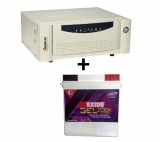 Microtek UPS EB 900 VA+ Exide Gel Magic-1500 150AH