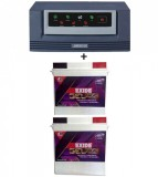Luminous Eco Watt 1650 VA Home UPS+Exide Gel Magic-1500 (150AH)